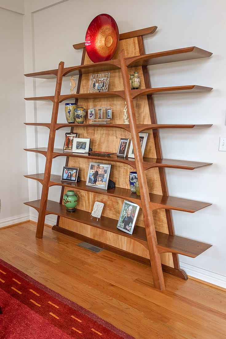 handmade wood bookcases