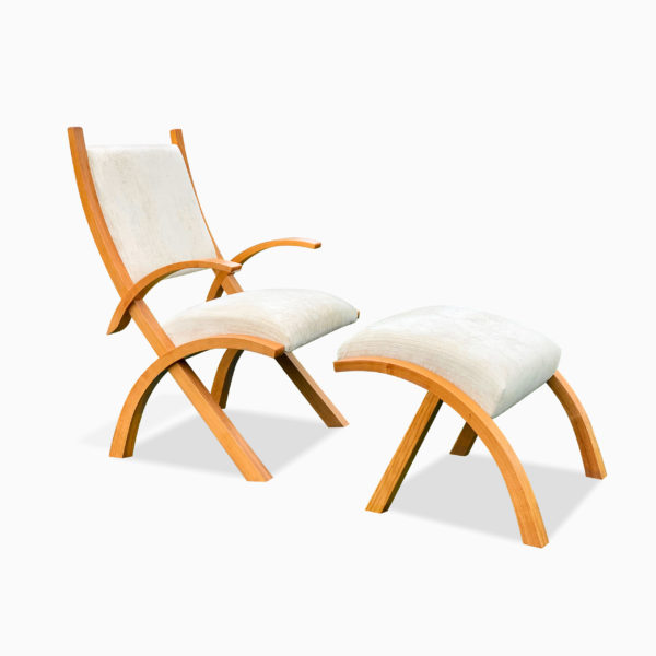 Herron Chair and Footstool 1