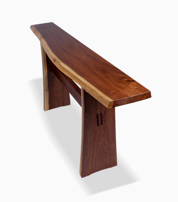 Live Edge Trestle Hall Table 2