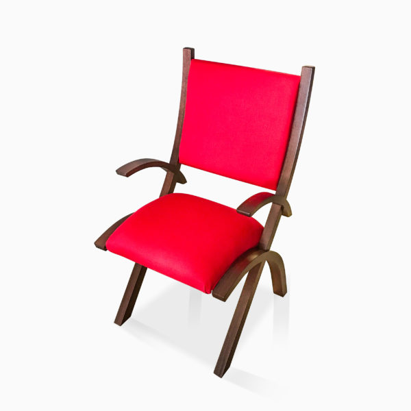 Red Herron Arm Chair
