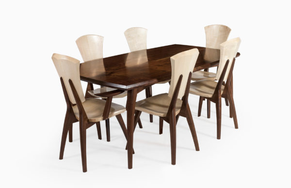 Walnut Lily Table with Chairs